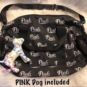 PINK bag and limited edition dog